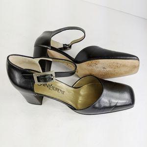 Yves Saint Laurent Size 7 M Vintage Shoes Black
